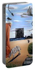 Portable Battery Charger featuring the painting Species Differentiation -darwinian Broadcast- by Ryan Demaree