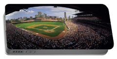 Spectators In A Stadium, Wrigley Field Portable Battery Charger by Panoramic Images