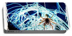 Portable Battery Charger featuring the digital art Spider by Daniel Janda