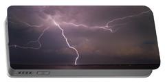 Spider Lightning Over Charleston Harbor Portable Battery Charger