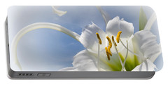 Spider Lily Portable Battery Charger by Jane McIlroy