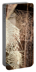 Spider Webs Portable Battery Charger by Anonymous