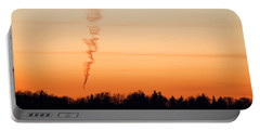 Spiral Cloud At Sunset Portable Battery Charger
