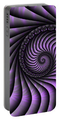 Spiral Purple And Grey Portable Battery Charger
