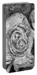 Portable Battery Charger featuring the painting Spiral Rapture 2 by Otto Rapp
