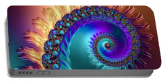 Spiral With Beautiful Orange Purple Turquoise Colors Portable Battery Charger
