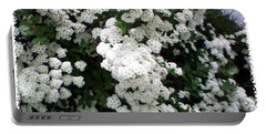 Spirea Bridal Veil Portable Battery Charger by Barbara Griffin