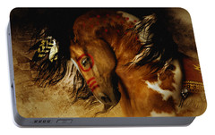 Portable Battery Charger featuring the digital art Spirit Horse by Shanina Conway