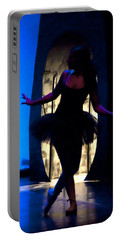Spirit Of Dance 3 - A Backlighting Of A Ballet Dancer Portable Battery Charger
