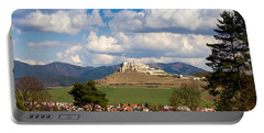Portable Battery Charger featuring the photograph Spissky Hrad - Castle by Les Palenik