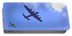 Spitfire  Lancaster Bomber Portable Battery Charger by John Williams