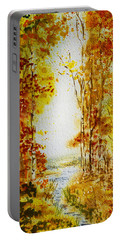 Splash Of Fall Portable Battery Charger