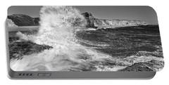 Splash - Panther Beach In Santa Cruz California. Portable Battery Charger