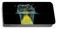 Splashing Lemon Portable Battery Charger