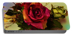 Splendid Painted Rose Portable Battery Charger