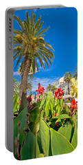 Split Riva Palms And Flowers Portable Battery Charger