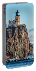 Split Rock Lighthouse In Winter Portable Battery Charger by Paul Freidlund