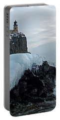 Split Rock Lighthouse Winter Portable Battery Charger