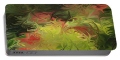 Portable Battery Charger featuring the digital art Jardin De Picasso  by The Art of Alice Terrill