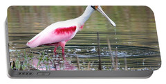 Spoonbill In The Pond Portable Battery Charger by Carol Groenen
