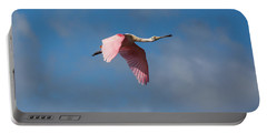 Portable Battery Charger featuring the photograph Spoonie In Flight by John M Bailey
