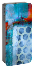 Portable Battery Charger featuring the mixed media Spotted Fever 2 by Nancy Merkle