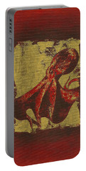 Spotted Red Octopus Portable Battery Charger