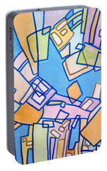 Portable Battery Charger featuring the painting Summer In The City by Jim Whalen