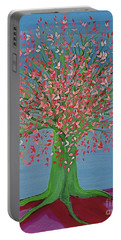 Spring Fantasy Tree By Jrr Portable Battery Charger