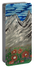 Spring Flowers In The Mountians Portable Battery Charger