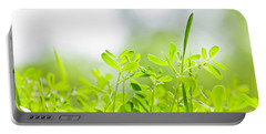 Spring Green Sprouts Portable Battery Charger