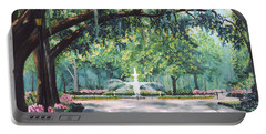 Spring In Forsythe Park Portable Battery Charger by Stanton Allaben