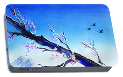 Spring In The Mountains Portable Battery Charger by Irina Sztukowski