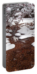 Portable Battery Charger featuring the photograph Spring Into Winter by Kerri Mortenson