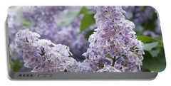 Spring Lilacs In Bloom Portable Battery Charger