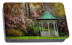 Portable Battery Charger featuring the photograph Spring Magnolia Garden At Magnolia Plantation by Kathy Baccari