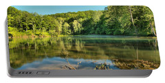Spring Mill Lake Portable Battery Charger by Adam Jewell