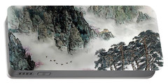 Portable Battery Charger featuring the photograph Spring Mountains And The Great Wall by Yufeng Wang
