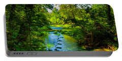 Spring Of Wonderment Portable Battery Charger by John M Bailey