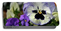 Spring Pansy Flower Portable Battery Charger