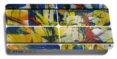 Portable Battery Charger featuring the painting Spring Part One by Sir Josef - Social Critic - ART