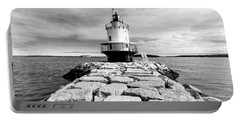 Spring Point Ledge Light In Black And White Portable Battery Charger