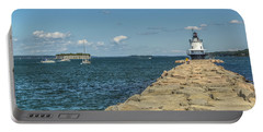 Portable Battery Charger featuring the photograph Spring Point Ledge Lighthouse by Jane Luxton