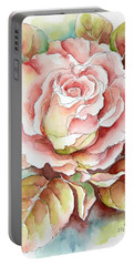 Spring Rose Portable Battery Charger by Inese Poga
