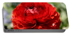 Spring Scarlet Double Begonia Portable Battery Charger