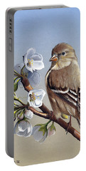 Portable Battery Charger featuring the painting Spring Splendor by Mike Brown