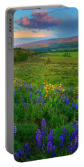 Spring Storm Passing Portable Battery Charger by Mike  Dawson