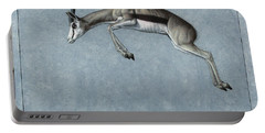 Portable Battery Charger featuring the painting Springbok by James W Johnson