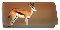 Springbok On Sandy Desert Plains Portable Battery Charger