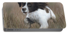 Springer Spaniel Painting Portable Battery Charger